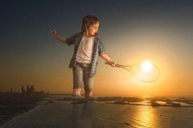 Бог фотошопа: мужчина превращает обычные фото сына на захватывающие изображения. ФОТО
