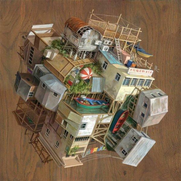 Фантастический перевернутый мир от художницы из Испании