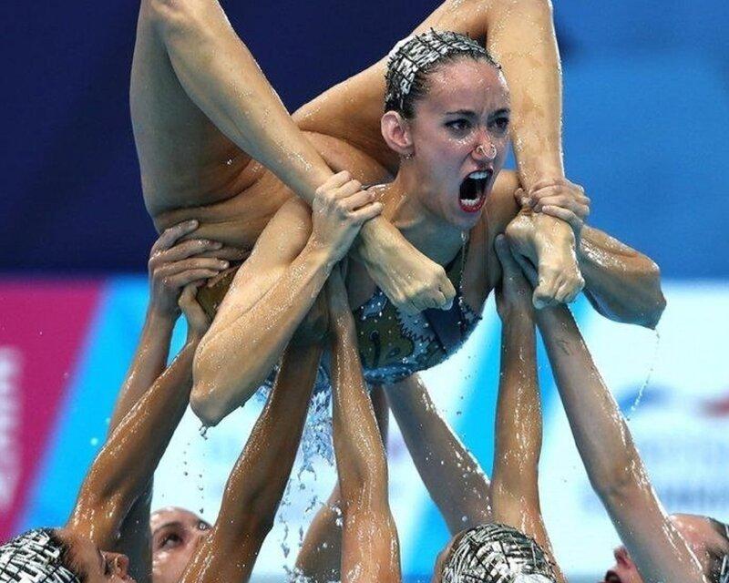 пока шелушаться- синхронное плавание приколы фото самый простой