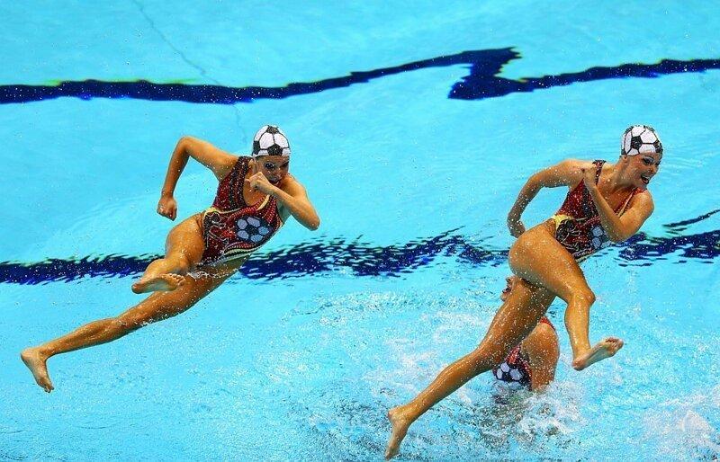 синхронное плавание приколы фото полного удаления волос