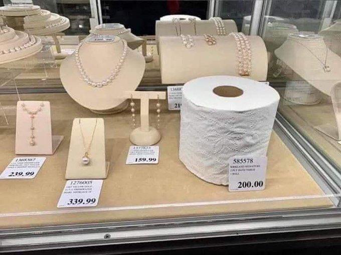 На вес золота: в сети показали курьезное фото с туалетной бумагой