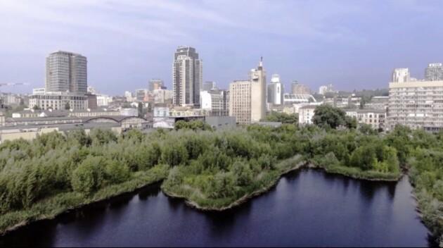 В Киеве обнаружено озеро в форме кота. ФОТО