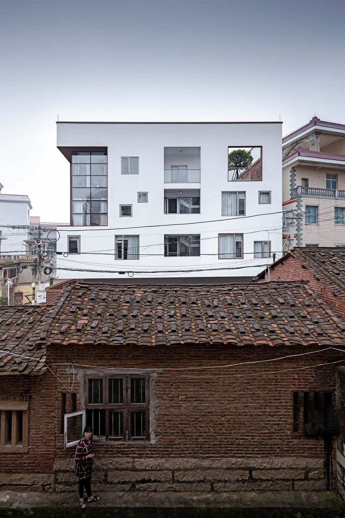Современный дом в стиле модерн в китайской деревне
