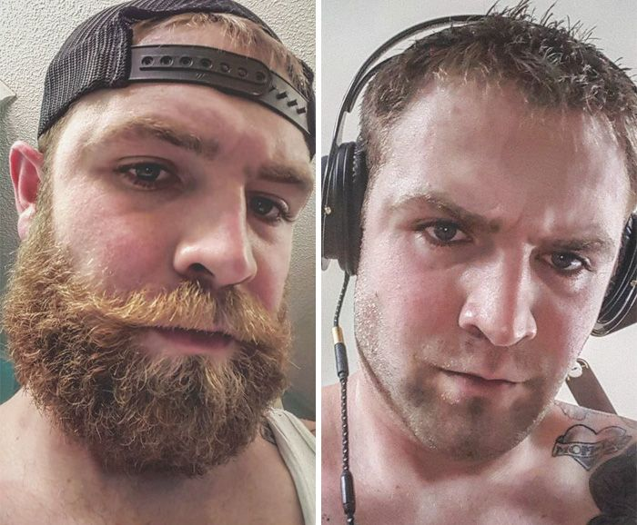 человек усы до и после картинки существу