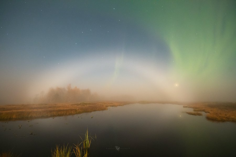 В небе над Канадой зафиксировали уникальную лунную радугу. Фото