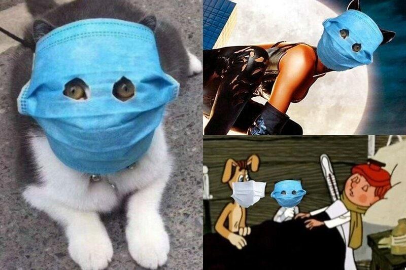 Соцсети отреагировали на новую волну коронавируса свежими фотожабами