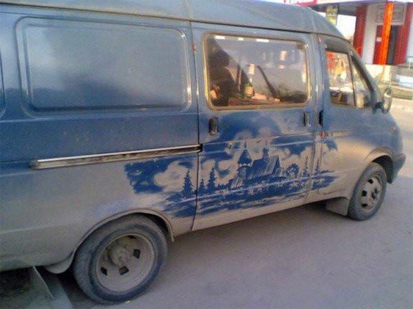Когда грязные автомобили превращаются в произведения искусства