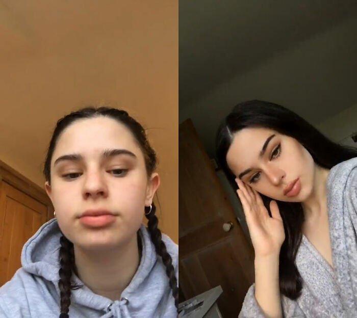 Забавный флешмоб. Девушки показывают, как выглядят в соцсетях и в жизни. ФОТО