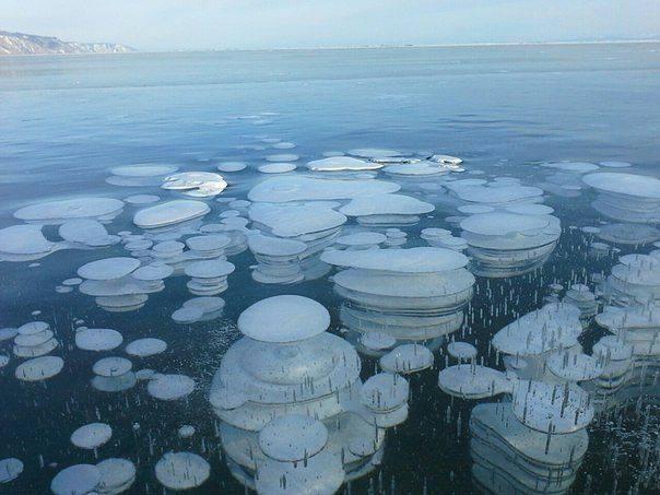 фото как замерзает озеро байкал